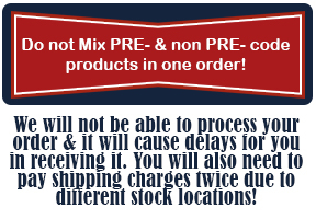 Please, do not mix PRE- & NON-PRE PRODUCTS IN YOUR ORDER